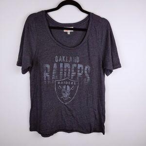 Junk Food Oakland Raiders Tee Shirt, Gray, XL